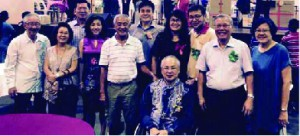 Y.B. Cheah Kah Peng (6th from left); Rev. Wong and his wife, Serene (far right) with Penang pastors and church leaders.